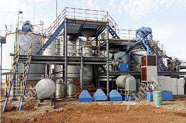 مصنع استخلاص خام الذهب 300 طن/يوم في جمهورية السودان
