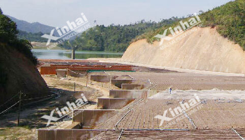 Gold Mine Pool Leaching Process