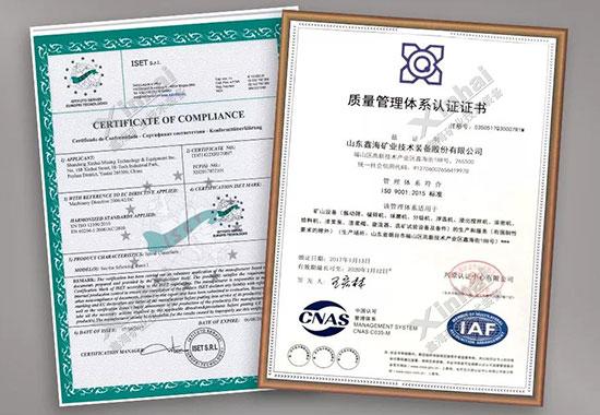شهادة نظام إدارة الجودة الدوليةISO9001: 2015، شهادة الاتحاد الأوروبي CE
