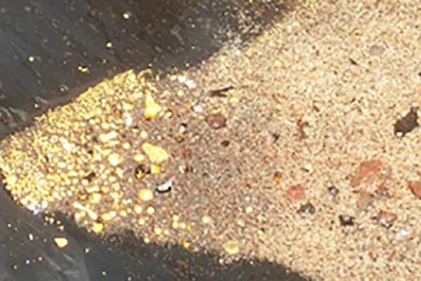 استخلاص الذهب من الذهب الرملي